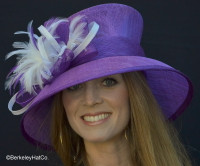Purple and White Ladies Tea at the Racetrack Hat