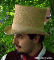 Straw Top Hat, Raffia in natural