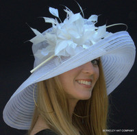 Belmont Dreams Kentucky Derby Hat in White