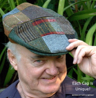 Patchwork Irish Flat Cap Wool  (IR64)
