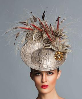 Vivian, Disc Fascinator Hat by Arturo Rios