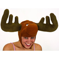 Plush Moose Hat