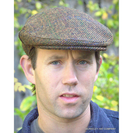 Harris Tweed Scottish Cap, Brown Twill
