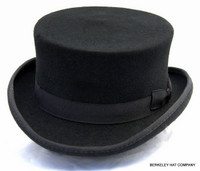 John Bull Top Hat, wool felt in black