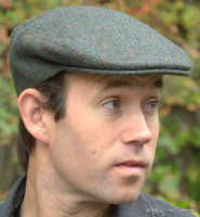 Irish Cap green herringbone