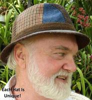 Irish Donegal Tweed Patchwork Walking Hat  (IR36)