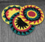 Crocheted Cotton Rasta Berets From Guatemala
