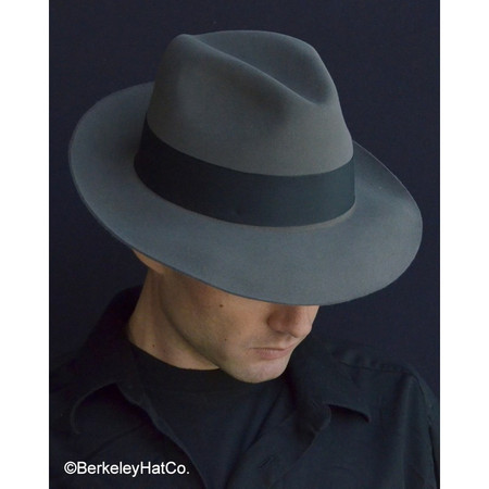 The Temple Fedora by Stetson in Caribou grey