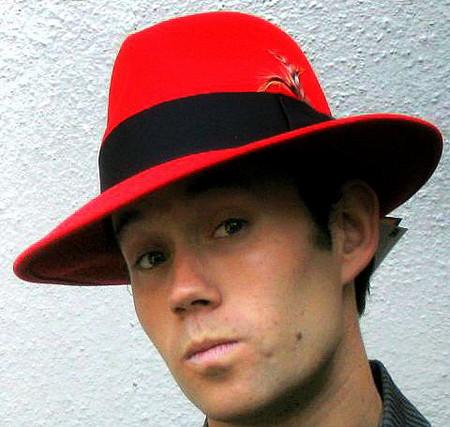 Red Fedora Hat