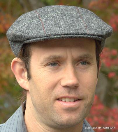 Irish Wool Tweed Barleycorn Flat Cap