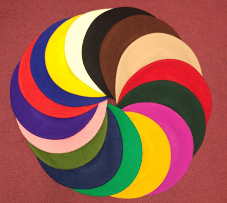 Beret, European Wool color options