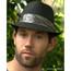 Pinstripe Fedora Hat, Paisley Band