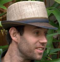Straw Fedora Hat, twotone