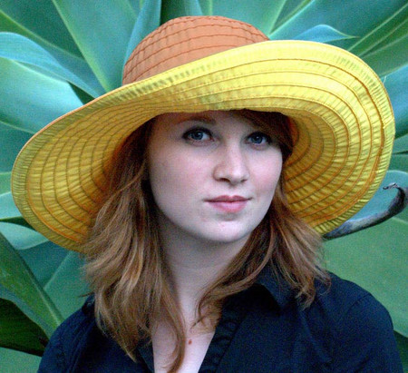 Women's Ribbon Hat, two tone in yellows