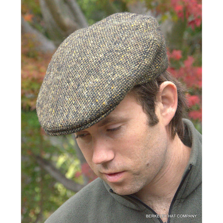 Irish Donegal Heavyweight Olive Ivy Cap