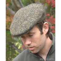 Irish Donegal Heavyweight Olive Ivy Cap  (IR34)