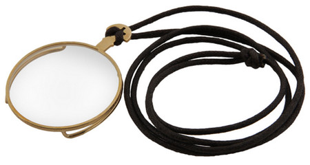 Gold Costume Monacle Eyepiece with cord.