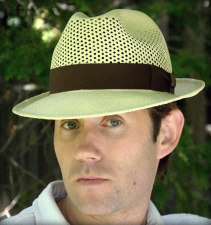 Panama Hat Open Weave Crown