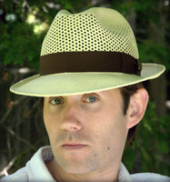 Panama Hat Open Weave Crown