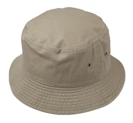 Bucket Hat, 100% Cotton in Tan