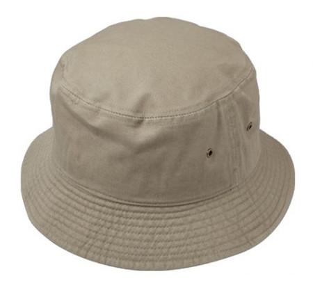 Bucket Hat, 100% Cotton in Tan
