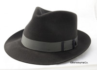 Lowell fur felt fedora in graphite grey by stetson