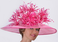 Pink Tropical Lilies Derby Hat