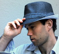 Two-Tone Black and White Fedora