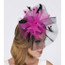 Contrasting Feather Fascinator on model