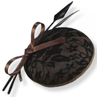 Bronze and Black Lace Fascinator Hat