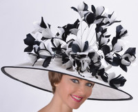 Queen's Favourite Derby Hat in Black and White