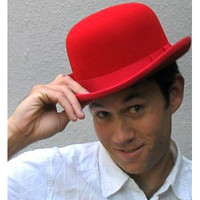 Wool Felt Derby: red