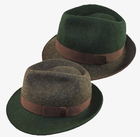 1794cd47debb7 Brown   Green Two-Tone Wool Fedora