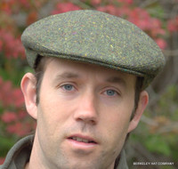 Green Donegal Tweed Irish Ivy Flat Cap