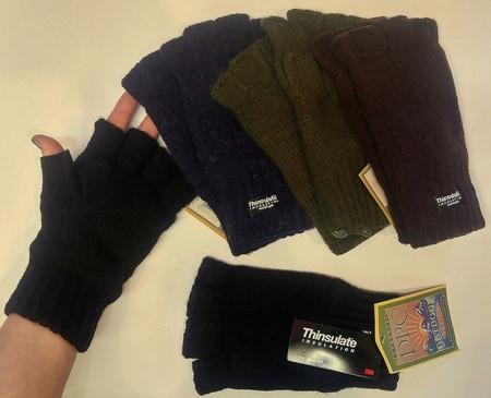 Fingerless Gloves, Thinsulate Lined