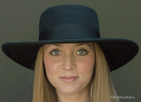 Bolero Hat, Black Wool Felt