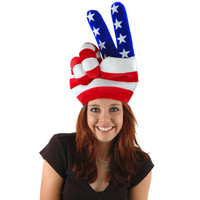 USA  PEACE HAND Hat