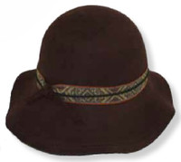 Women's Wool Floppy Brim Bucket Style Hat