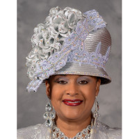 Silver Showpiece Church Hat by Eve Andrea, Scruples