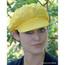 Women's Sequined Cabbie Cap in yellow