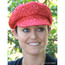 Women's Sequined Cabbie Cap in red