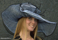 Soft Straw Hat for the Kentucky Derby in Black and White