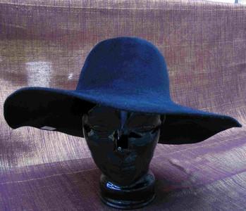 Felt Velour Wide Brim Hat