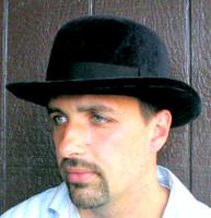 BLACK VELVET DERBY HAT