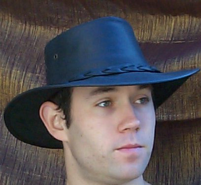 Leather Aussie Hat by Barmah