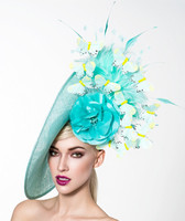 Turquoise Fascinator, Angela by Arturo Rios