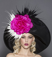 Rita, Black Pink & White Derby Hat by Arturo Rios.