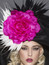 Arturo Rios - Rita, Black Pink & White Derby Hat.