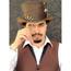 "Steampunk Leather Top Hat, ""Trinket"""