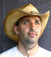 Concho Cowboy Hat in Raffia